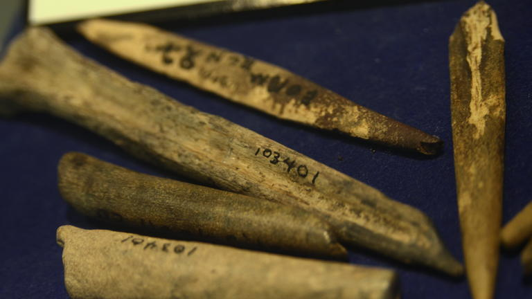 Bone Awls found at poverty point